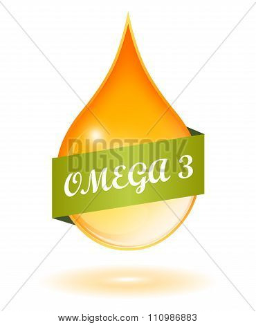 Fish oil and omega 3 icon