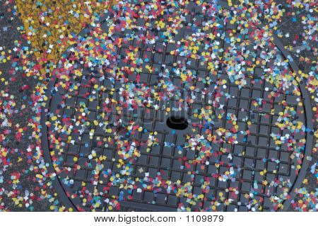 Confetti On A Drain