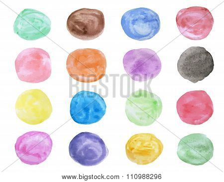 Water color circle