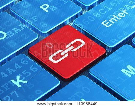 Web design concept: Link on computer keyboard background