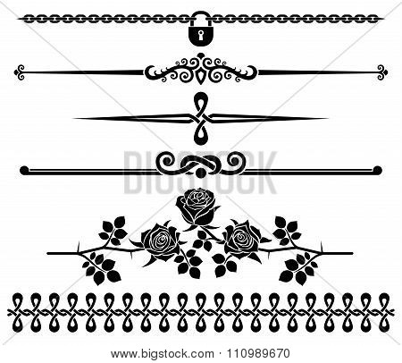 Decorative elements - roses.