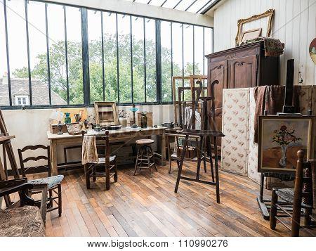 Suzanne Valadon Painting Studio In Musee De Montmartre, Paris