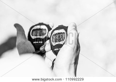 More Than Six Minutes Breath Hold Measured On A Chronometer