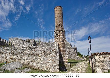 ruin of mosque inside fortress in Berat, Albania