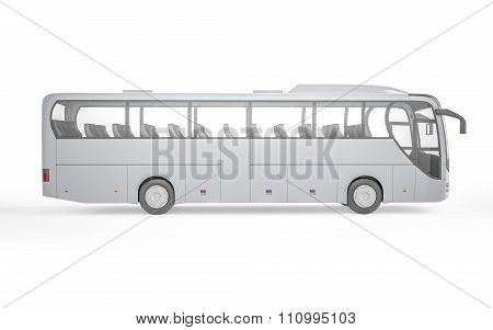 Bus Mock Up On White Background, 3D Illustration