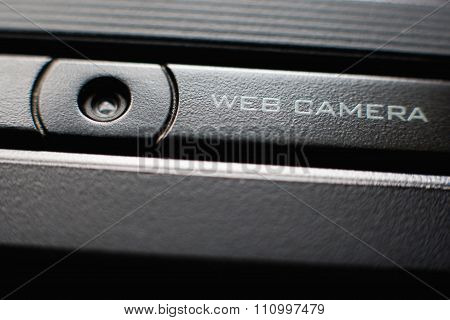 Web Camera Close Up On Laptop