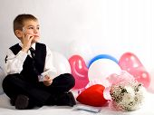 The Boy Reflects On A Congratulation To The Valentine'S Day  poster