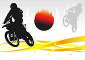 stock photo of moto-x  - motocross Racing vector - JPG