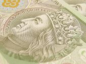 Polish zloty currency poster