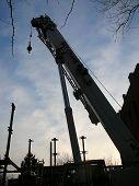 Urban Construction Site With Crane