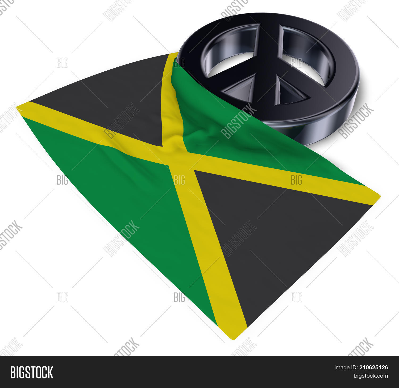Peace symbol flag jamaica 3d image photo bigstock peace symbol and flag of jamaica 3d rendering biocorpaavc