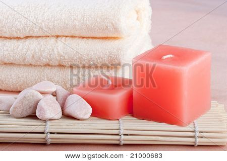 Peach Color Spa Setting