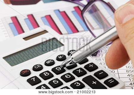 Graphics calculator and a balance sheet