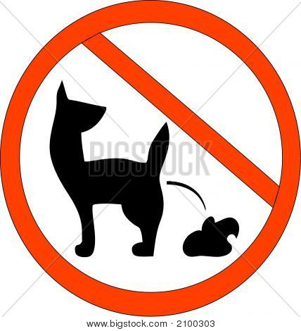 No Dog Poop Zone Sign