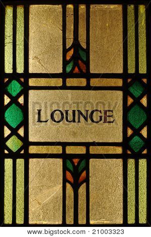 Stained Glass Lounge Sign