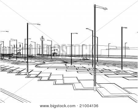 Outside Parking Vector