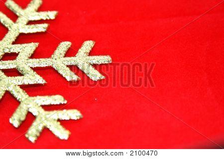 Christmas Background Gold On Red Velvet