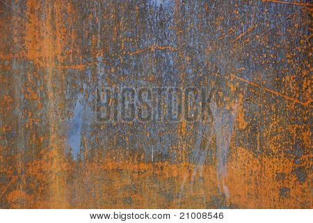 Rust on Steel Background