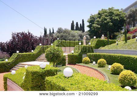 Terraces of the Bahai Gardens. Israel
