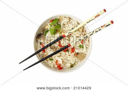Vegetarian Ramen Noodled Dish, Birdsview