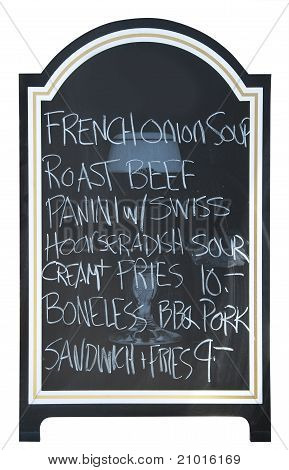 Menu board, isolated