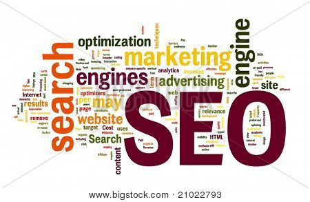 SEO Search Engine Optimization in Wort-Wolke