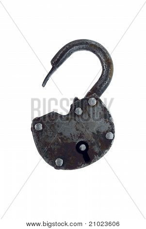 The old hinged iron lock