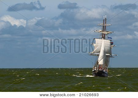 A Tall Ship On A Stormy Day