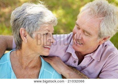 Porträt von senior couple