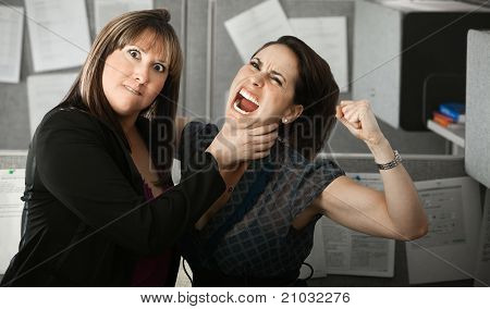 Two Women Quarelling
