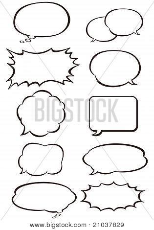 comic bubbles vector