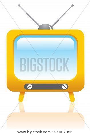 Cartoon styled tv