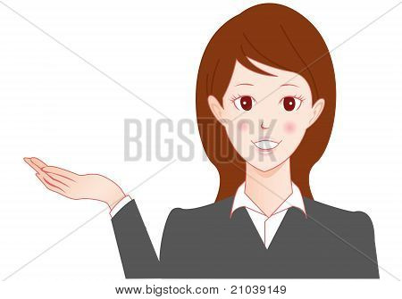 Businesswoman speaking Vector