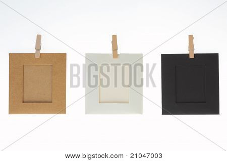 Three Picture Frame Empty