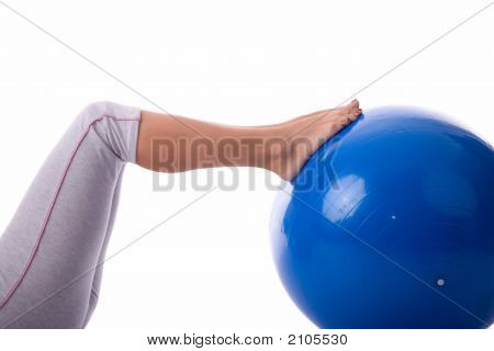 Exercise By Pilates Ball