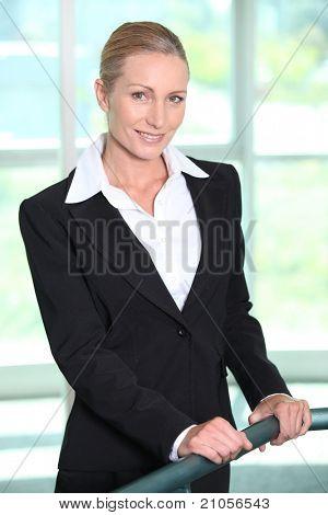 Mature businesswoman smiling