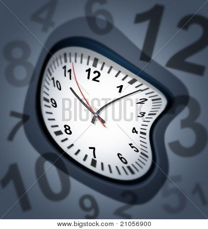 Surreal Clock As Time Symbol