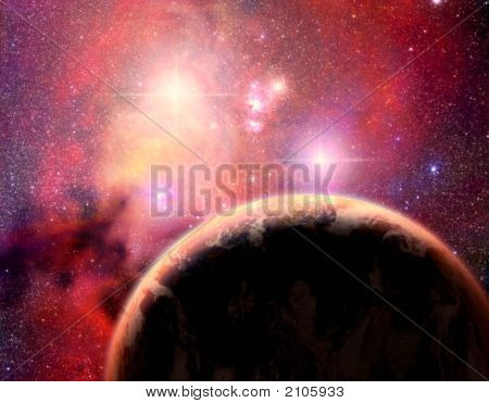 Planet In Binary Star System