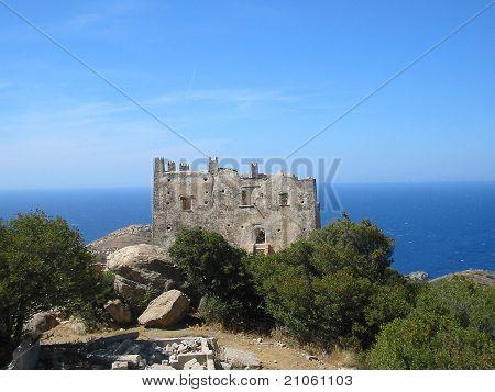Abandoned stone house in Naxos