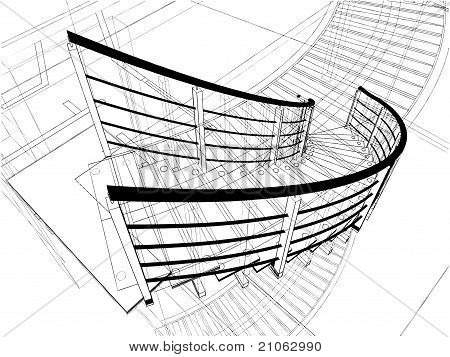 Abstract Spiral Staircases Constructions