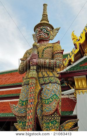 Huge Demon Is Standing At Temple