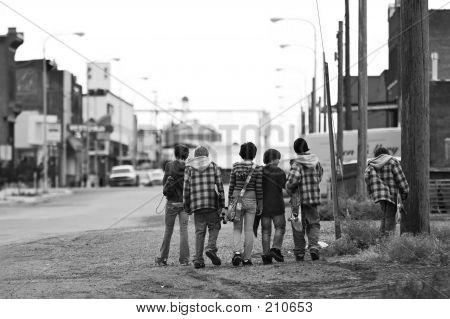 Skater Kids (B & W)