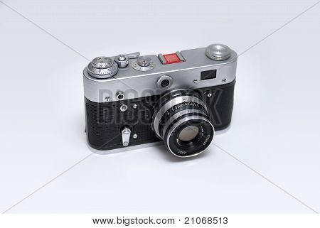 Old Rangefinder Russian Camera