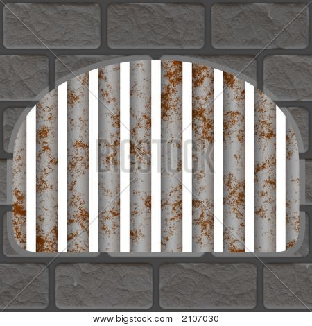 Rusty Jail Window