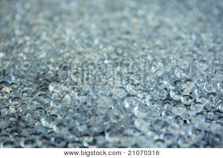 Fondo de perlas de vidrio acrílico