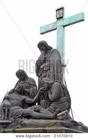 Pieta on charles bridge in prague