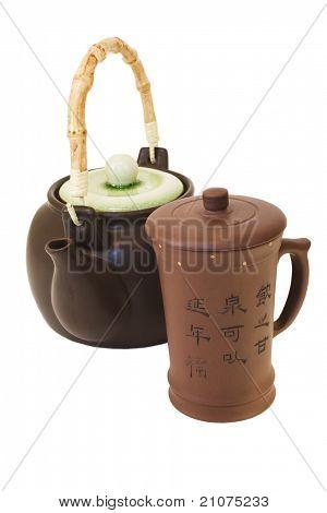 Ware for tea.