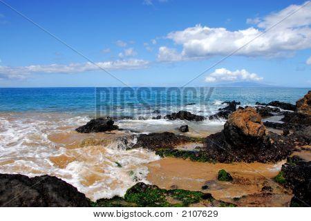 Rocky Beach On The Island Of Maui