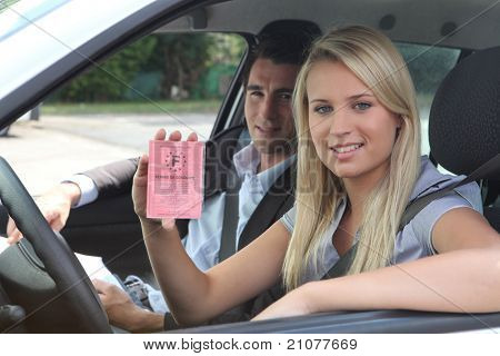 New driver displaying French licence
