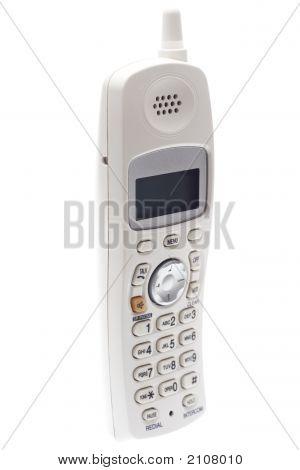 White Cordless Phone. Angled